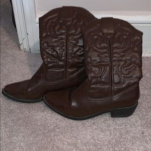 Faux cowgirl boots